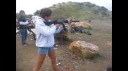 Girl Shooting Gun