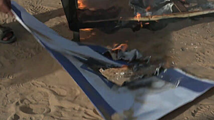 State of Palestine: US and Israeli flags burnt at protest against peace deals with Israel