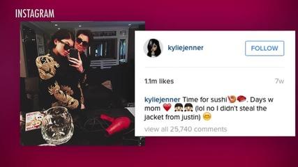Kris Jenner Steals Justin Bieber's Look for Men's Fashion Week in Paris