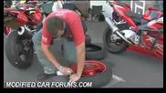 Напасване и напомпване на гума