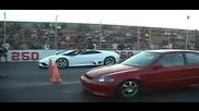 Turbo Civic vs Lamborghini Murcielago