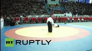 Стивън Сегал показва своите айкидо умения на турнир по самбо в Саратов