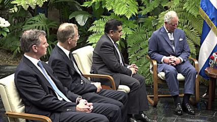Cuba: Prince Charles meets Cuban president on historic royal visit