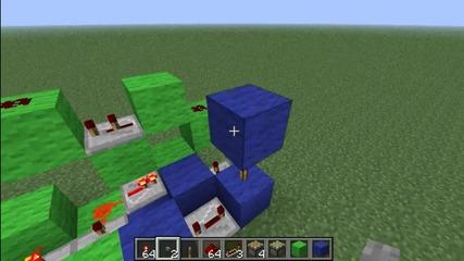 Minecraft Compact 3x3 Piston Door Tutorial (kak da si napravim)