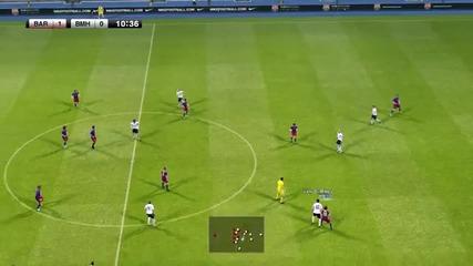 Pro Evolution Soccer 2011-barcelona vs Bayern Munchen Pc Gameplay