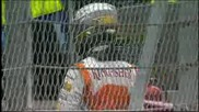 Adrian Sutil crashes 20.06.09