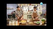 Бисквити с шоколад, паста с бекон и грах, крем супа от - Бон Апети (12.03.2013)