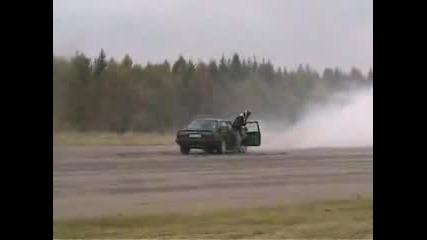 Audi 80 Quattro Burnout