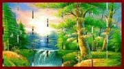 Красиви водопади! ... ( Painting) ... ( Hilary Stagg harp)