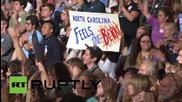 USA: Sanders slams 'corporate American greed' at North Carolina rally