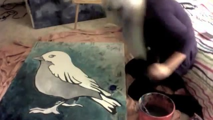 Speed Painting a Sparrow