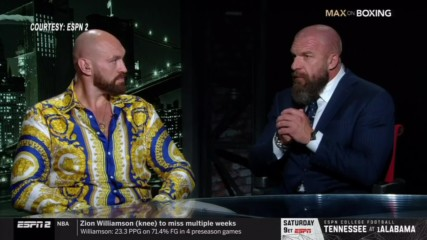 "Tyson Fury and Triple H join ESPN's ""Max on Boxing"""