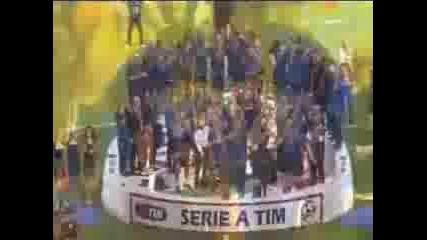 Награждаване на Интер - 4ти пореден път шампиони на Италия !!!
