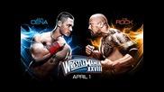 Cena i Rock Wrestle Mania28