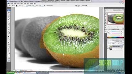 как да направите снимка черно - бяла и да оставите обект вътре цветен!