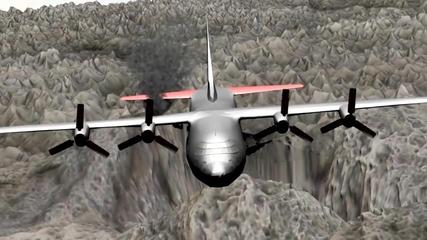 Бг анимация - Аварийно приземяване на самолет