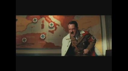 Брад Пит спори с Хитлер