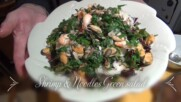 Shrimps & Noodles Green salad - Papa`s kitchen recipe
