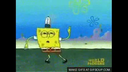 Spongebob dances to Judas
