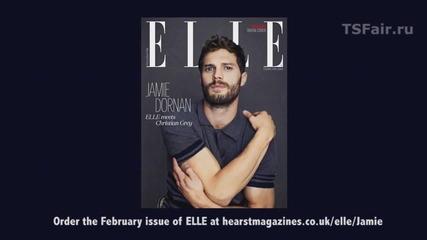 Джейми Дорнан (50 нюанса сиво - Christian Grey) Фотосесия за Elle Uk 2014
