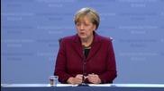 Belgium: Merkel holds presser after EU-Turkey summit in Brussels