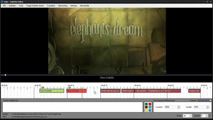 Kijio - Subtitle Editor - Нова безплатна програма за директно и лесно създаване на субтитри