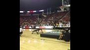 Flip into a dunk?