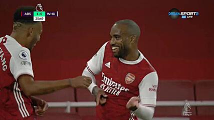 Арсенал - Уест Хям 1:1 /първо полувреме/