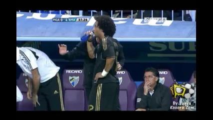 Malaga 0-4 Real Madrid ( Ronaldo )