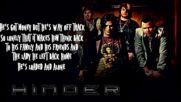Hinder - Loaded And Alone (lyrics Video)