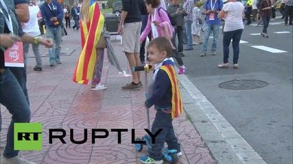 Spain: Thousands rally for Catalan independence in Barcelona