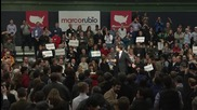 USA: Rubio met by protesters during campaign rally in New Hampshire