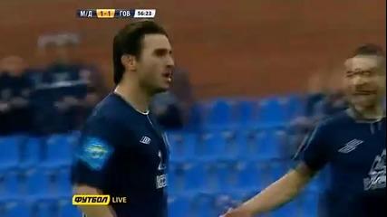 20.04 Велизар Димитров с победен гол срещу Говерла Закарпатия