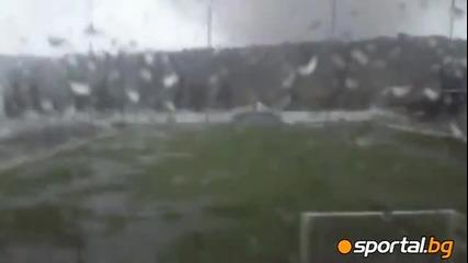 Торнадо преминава през стадион в Португалия! *17.11.2012г.*