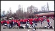 Бой между фенове на Динамо Киев и Черноморец Одеса