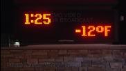Бекон и яйца замръзват навън за 10 минути в Сейнт Клауд , Минесота 5.1.2014