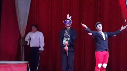 Цирк ''Арена'' в Бургас 2020. Клоунът Мишо хипнотизатор