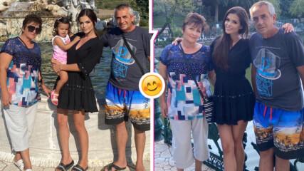 Семейна идилия: Преслава и Паола заедно с баба и дядо на разходка