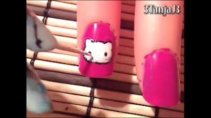 Hello Kitty Нокти