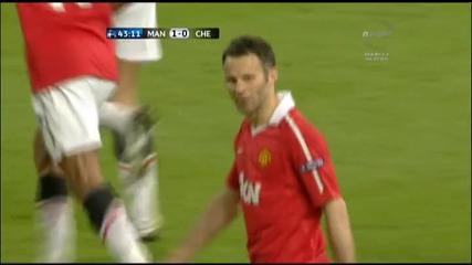 12.04.2011 - Шампионска лига - Манчестър Юнайтед 1 - 0 Челси гол на Хавиер Ернандес - Чичарито