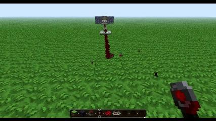 minecraft три блока обсидиан предпазват един блок пръст от Tnt