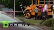 Стрелба по училищен автобус в САЩ, двама ранени