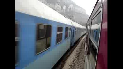 Влакове Разминаване В Дефилето