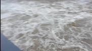 Река Джерман секунди след спирането на дъжда