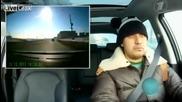 Реакция на руснак при минаването на метеорит !