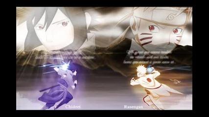 Naruto vs Sasuke Cuarta Guerra Fan Art