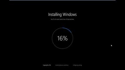 преинсталиране / инсталиране на Windows 10