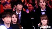 Exo Sehun Chanyeol Focus (watching Blockb Bts Stage) - Mama in Hk