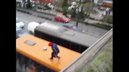 Скок От Моста На НДК Върху 604