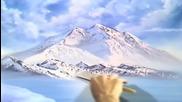 S01 Радостта на живописта с Bob Ross E02 - Mt Mckinley ღобучение в рисуване, живописღ